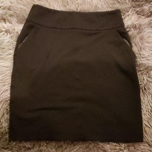 Black Casual Skirt
